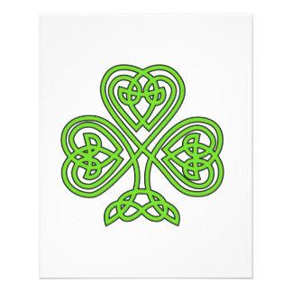 Celtic Shamrock Design Custom Flyer