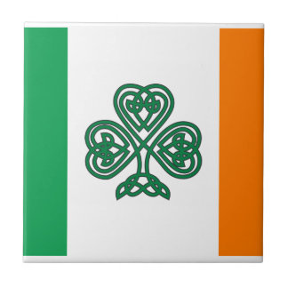 Celtic Shamrock Flag of Ireland Custom Tile