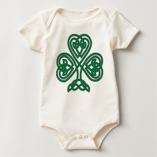celtic shamrock infant onsie baby bodysuit