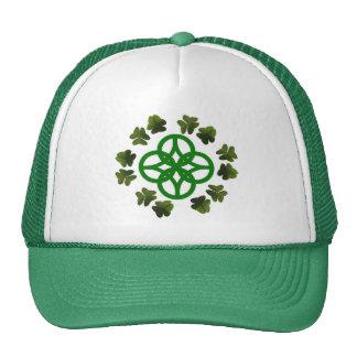 Celtic Shamrock Knot Cap