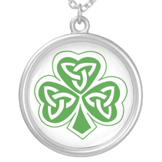 Celtic Shamrock Leaf Irish Design Necklace
