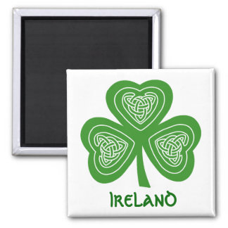 Celtic Shamrock Leaf Irish Themed Design Magnet