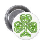 Celtic Shamrock Pinback Button
