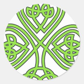 Celtic Shamrock Round Sticker