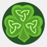Celtic Shamrock Saint Patrick's Day Round Sticker