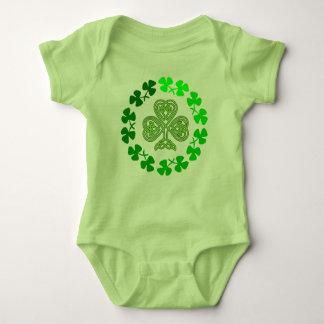 Celtic Shamrock St. Patricks Day design. Baby Bodysuit
