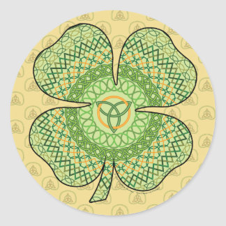 Celtic Shamrock Sticker