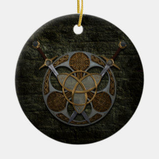 Celtic Shield And Swords Christmas Ornament