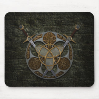 Celtic Shield and Swords Mouse Mat