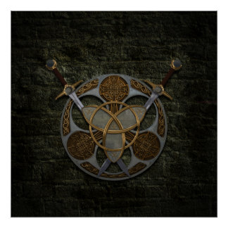 Celtic Shield and Swords Print