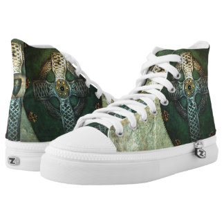 Celtic Shield High Tops Printed Shoes