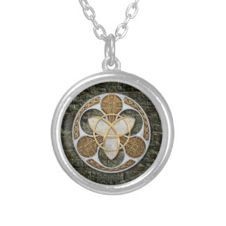 Celtic Shield Silver Plated Necklace