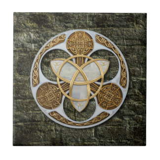 Celtic Shield Small Square Tile