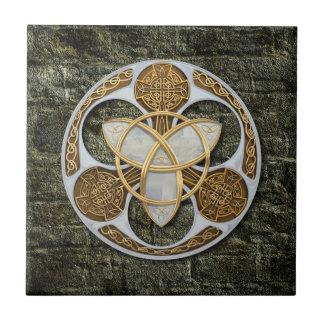Celtic Shield Small Square Tile