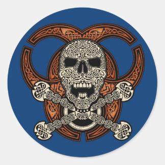 Celtic Skull & Biohazard Stickers