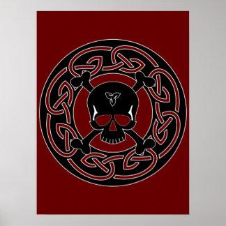 Celtic Skull & Crossbones Print