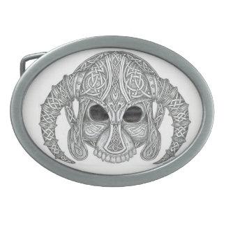 Celtic Skull Oval Belt Buckles