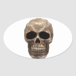 Celtic Skull Oval Sticker