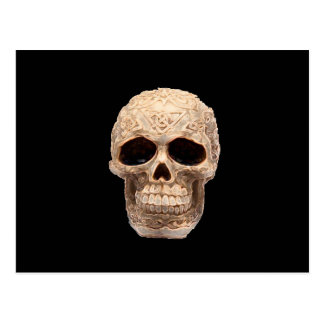 celtic skull postcard