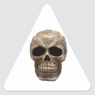Celtic Skull Triangle Sticker