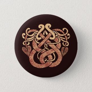 Celtic Snakes 6 Cm Round Badge