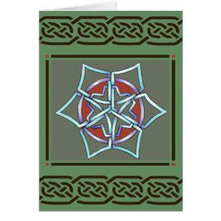 Celtic Snowflake Yule Card