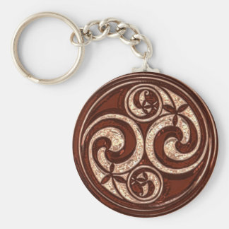 Celtic Spiral design #2v2 Key Ring