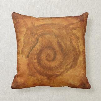 Celtic Spiral Dragon Fantasy Mythology Dragons Cushion