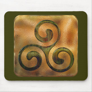 celtic spirals mouse mat