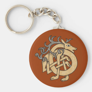 Celtic Stag Key Ring