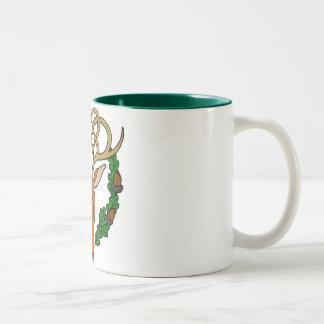 Celtic Stag Two-Tone Coffee Mug