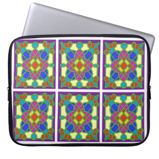 Celtic Stained Glass Effect Laptop Sleeve