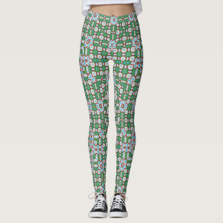 Celtic Stained Glass Pattern Leggings