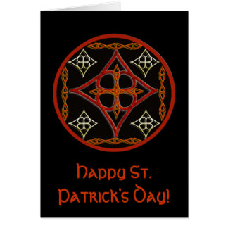 Celtic Style Circle Greeting Card