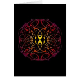 Celtic Sun Mandala (customizable) Note Card