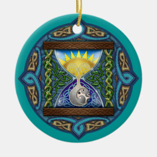 Celtic Sun-Moon Hourglass Ornament