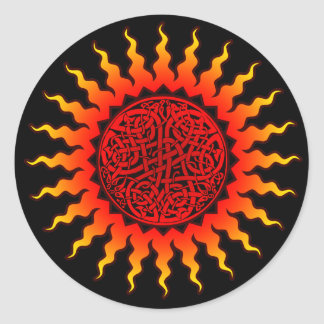 Celtic Sun Sticker