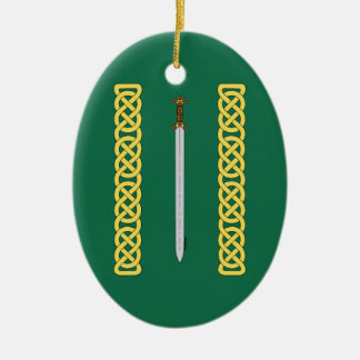 Celtic Sword and Knotwork Christmas Ornament