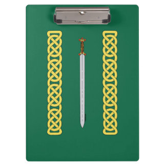 Celtic Sword and Knotwork Clipboard