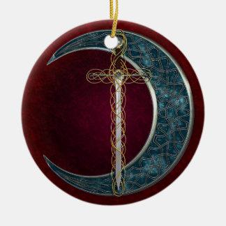 Celtic Sword and Moon Ornaments