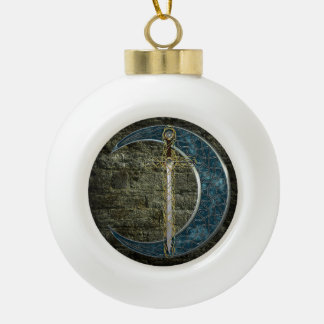 Celtic Sword and Moon Ornament