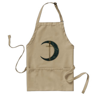 Celtic Sword and Moon Standard Apron