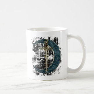 Celtic Sword and Moon with Grunge Coffee Mug