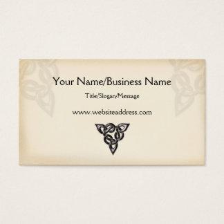 Celtic Symbol Design Business Card