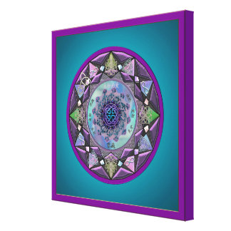 Celtic Symbolic Mandala Canvas Print