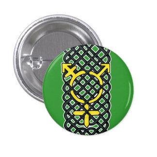 Celtic Transgender Symbol Yellow 3 Cm Round Badge
