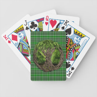 Celtic Tree And Ancient Clan MacDonald Isles Bicycle Playing Cards