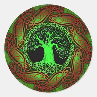 Celtic Tree (Illuminated version) Round Sticker