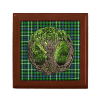 Celtic Tree Of Life And Clan Graham Tartan Gift Box