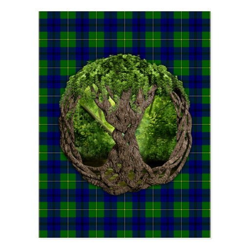 Celtic Tree Of Life And Clan Johnston Tartan Postcards